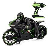 RC Motorrad Ferngesteuertes Auto High Speed 20km / h Schnelles Rennen Wiederaufladbares Spielzeug im Maßstab 1:18 60M~80M Fernbedienung ca.10 Minuten Spieldauer 4WDTruck 2,4 GHz RC Buggy Hobby Auto -Grün