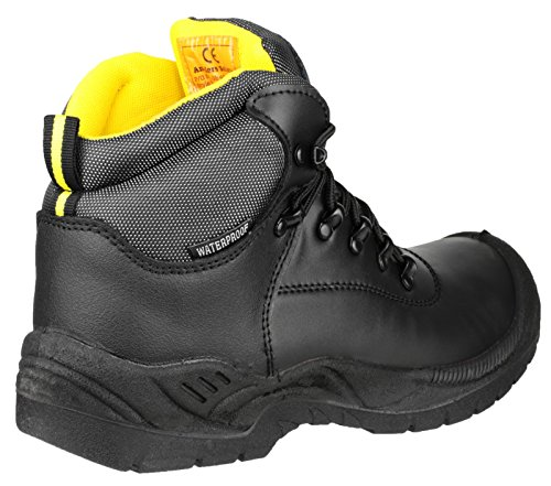 Amblers Safety Mens FS220 W/P Leather Waterproof Safety Boots Black Black