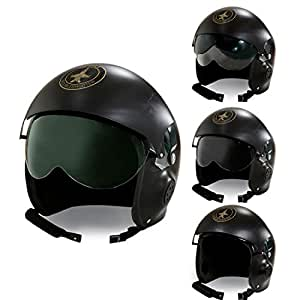 Casque de pilote Top gun coiffe d'aviateur jet avec visière Chapeau d'aviateur Air force casque de pilote avion armée de l'air déguisement accessoire costume de carnaval