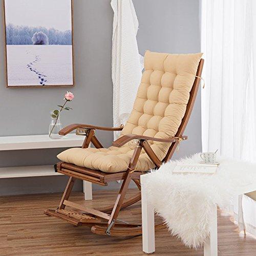 SJERC l'inverno Sdraio Cuscino, Sedia Pieghevole Cuscino, Addensato Spugna, Staccabile sofà Cuscino di seduta (esclusi sedie),48 * * 8cm 120,Light Camel Colore (120 cm)