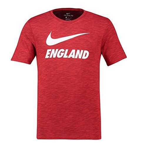 Nike ENT M NK Dry Slub prssn, T-Shirt Herren M Challenge Red -