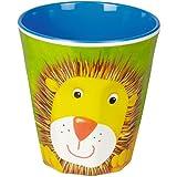 Die Spiegelburg 13224, juguetes, platos para niños - Vaso, taza - motivo: león - aprox 8 cm, ø 7,5 cm - material: melamina BPA ausente