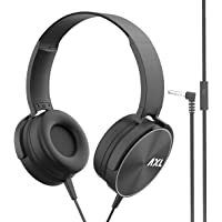 AXL AHP-02 Wired On Ear Headphone with Mic (Black)