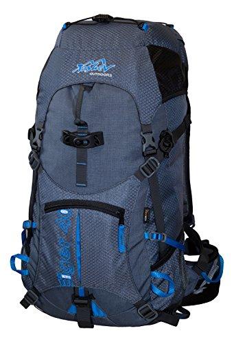 Rucksack 40L TASHEV EIGER Kletterrucksack aus Cordura Trekking Rucksack Blau Daypack 40 Liter