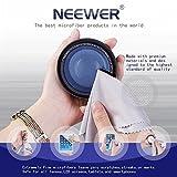 Neewer 5.9x 5.7in/15x 14.5cm Ultra morbida microfibra panno di pulizia per schermo LCD, fotocamera obiettivo per, Occhiali; Tablet; Smartphone e altri superfici Delicate (grigio)