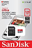 Sandisk 128GB Class 10 Ultra MicroSD UHS-U1A1 Card with Adapter (SDSQUAR-128G-GO61A)