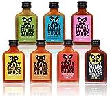 Crazy Bastard Sauce - Alle 7 bundle mild bis extreme scharfe Chilisauce (7 x...