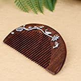 Best Thai Hair Combs - Black Gold Sandalwood Comb S925 Thai Silver Craft Review