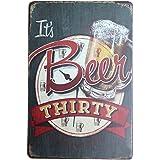 iTemer plaque publicitaire murale en métal rétro «It's Beer»