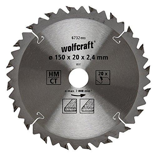 Preisvergleich Produktbild Wolfcraft 6732000 1 Kreissägeblatt HM, 20 Zähne, ø 150 mm