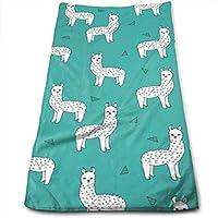 ERCGY Alpacas Llamas Baby Nursery Cute Design Towels Multi-Purpose Microfiber Soft Fast Drying Travel Gym Home Hotel Office Washcloths