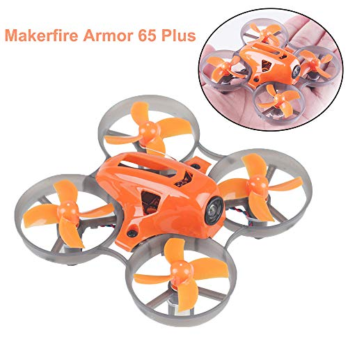 MakerStack Armor 65 Plus Micro FPV Racing Drone 65mm Whoop Quadcopter 7x16mm Motori F3 FC con XM Frsky Receiver BNF (65 Plus)