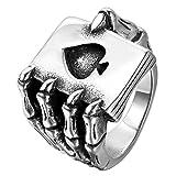 Best Men Rings - JewelryWe Mens Stainless Steel Ring, Gothic Skull H Review