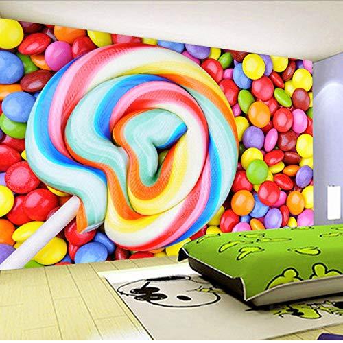Gwgdjk Gewohnheit Irgendeine Größe Farbe Süßigkeiten Lutscher Vliestapete Kinderzimmer Schlafzimmer Dekoration Malerei Wandbild Tapete Kinder-400X280Cm