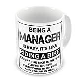 Being A Manager Is Easy It's Like Riding A Bike Funny Novelty Gift Mug