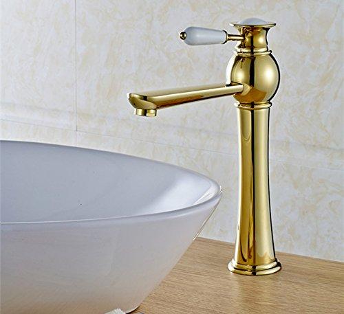 SBWYLT-Alta qualità oro elegante rame monocomando monoforo lavabo rubinetto cibi caldi e freddi ciotola bacino rubinetto rubinetto valvola sedile diametro: 35mm