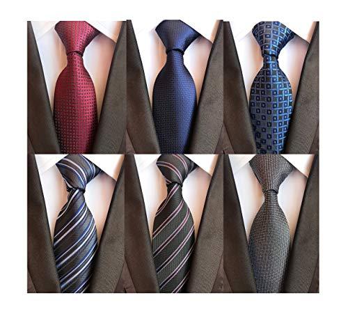 Vinesen Herren Jungen Krawatte mit Reißverschluss zum Anklipsen einfarbig 4 Stück - mehrfarbig - Einheitsgröße