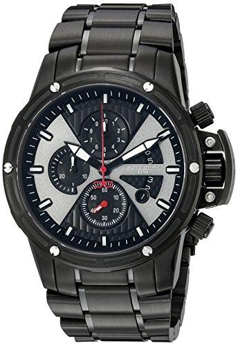 Jorg Gray JG8500-24 - Reloj analógico de cuarzo para hombre, correa de acero inoxidable color negro