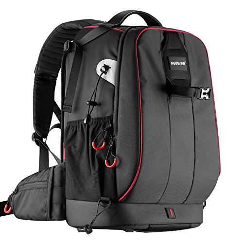 Neewer Pro Camera Case Waterproof Shockproof Adjustable Padded Camera Backpack Bag with Anti-theft Combination Lock for DSLR,DJI Phantom 1 2 3 Professional Drone Tripods Flash Lens and Other Accessory