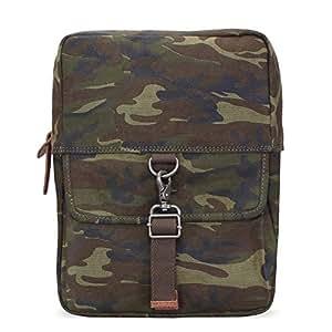 Bareskin Olive Color Camouflage Print Canvas Sling Casual Backpack/Stylish Sling Bag/Branded Sling Bag/Designer Sling Bag/Quick Delivery/hand made sling bag/Suitable for mini I-Pad (padded sleeve)