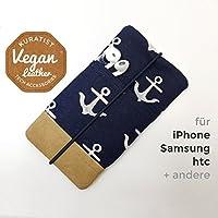 iPhone-Tasche Anchor Dark / Handytasche / Smartphone Case / Vegane Handytasche / Vegane Accessoires / Geschenk zum Muttertag