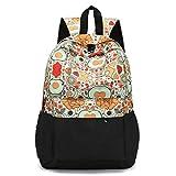 HCFKJ Schultasche, Frischer Art-Frauen-Rucksack-Blumendruck Bookbags weiblicher Reiserucksack (B)