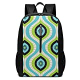School Backpack, Schoolbag Travel Bookbag, Seamless Pattern Vector Image Laptop Backpack, 17-inch Laptop Backpack for High Or College Schoolbag Book Bag for Men Women Black