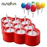 eisformen eis am stiel silikon,Eislutscher Formen aus Silikon BPA Frei, Popsicle Formen Set mit Reinigungsbürste und Falttrichter