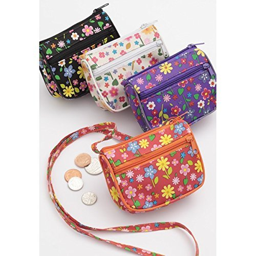 Little Girls Floral Print Shoulder Purse with Long Strap -