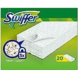 Swiffer - Recharges de Lingettes Sèches pour Balai (x20 lingettes) - Lot de 4 (80 lingettes)