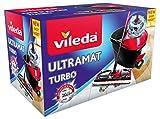Vileda Ultramat Turbo Komplett Set, Bodenwischer und Eimer mit PowerSchleuder