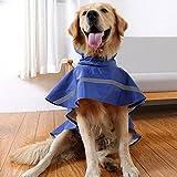 Ltuotu Pet Dog Impermeabili facile da indossare Super impermeabile traspirante e Snowproof (blu, M)