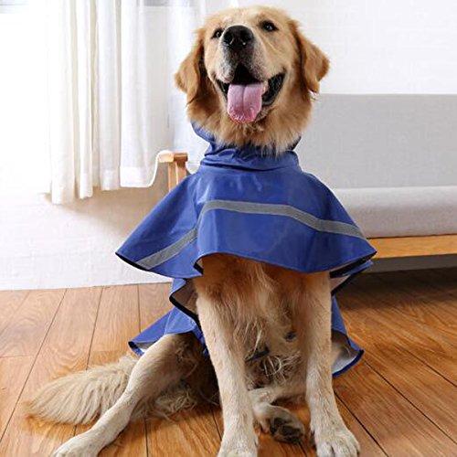 Ltuotu Giacca Cappotto Impermeabile Cappotto Impermeabile Combinazione a Cappuccio Impermeabile Regolabile Poncho con Cappuccio Riflettente per Cane Cucciolo Gatto