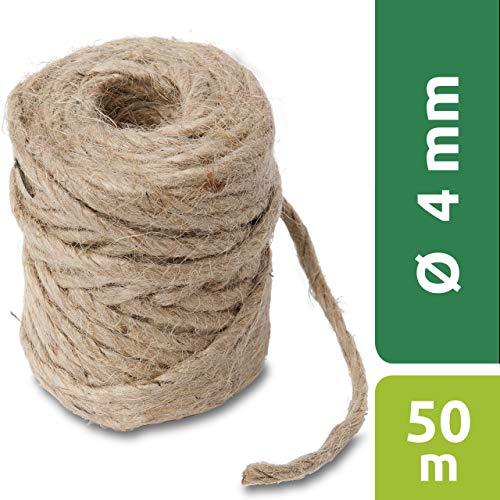 Windhager Jute-Schnur Jutegarn Bindegarn Bindeschnur, natur, 4 mm x 50 m, 06158, beige