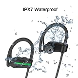 Aprigy Fone de Ouvido auricolare Bluetooth vivavoce senza fili di sport Bass cuffie con microfono impermeabile IPX7stereo Headset