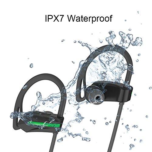 Aprigy - Fone De ouvido Bluetooth-Freisprecheinrichtung Sport Drahtlose Kopfh?rer-Bass-Kopfh?rer mit Mikrofon Wasserdicht IPX7 Stereo Headset