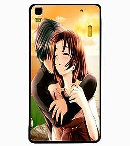 ColourCraft Loving Couple Design Back Case Cover for LENOVO K3 NOTE