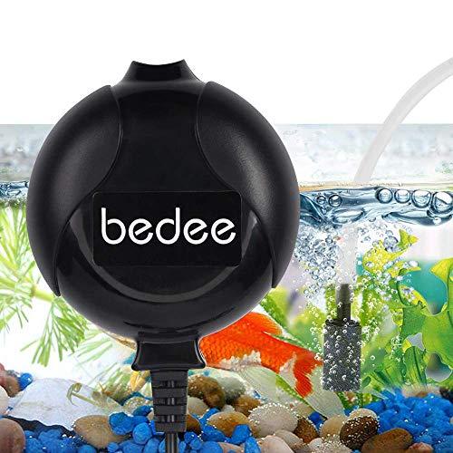 bedee Pompa d'Aria per Acquario, Mini Pompa Ossigeno Acquario Ultra Silenziosa a Risparmio Energetico 1W con Tubo d'Aria e Tubo Flessibile di Silicone, 220V