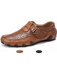 Homme Mocassins Classic Cuir Chaussures Ville Saison d'été Casual Antidérapant Antichoc Loafers