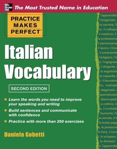 Practice Makes Perfect Italian Vocabulary (Practice Makes Perfect Series) by Daniela Gobetti (2011-09-07)