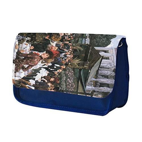 Preisvergleich Produktbild Tissot The Women Of The Artist, Blau Schule Kinder Sublimation Hohe Qualität Polyester Schüleretui Federmäppchen mit Farbig Aufdruck. 21x13 cm.
