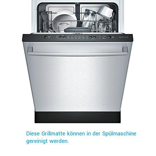 51Ha4ExVQ3L - BBQ Grillmatte (3er Set) – iLOME Teflon Antihaftbeschichtung Grillmatte für Holzkohle Grill, elektronisches Grill, Backofen, Dampf-Backofen, Mikrowelle, etc. 33x40CM