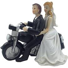 e muse repart avec la moto figurine pour gteau de mariage couple de maris - Personnage Gateau Mariage Humoristique
