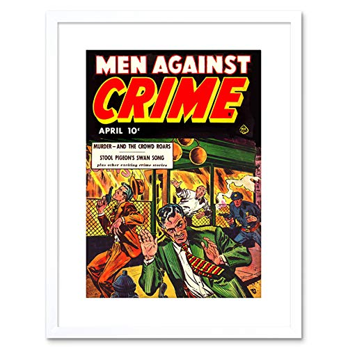 9x7 '' Magazine 1951 Men Against Crime Shoot Out Guns Framed Art Print F97X495 -