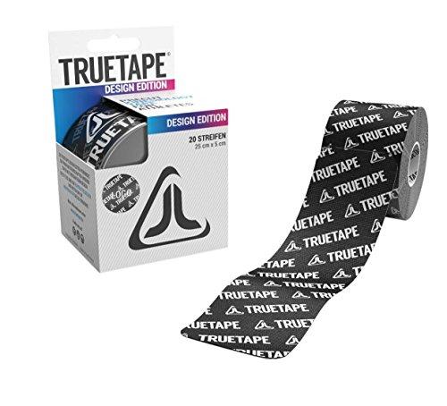 Preisvergleich Produktbild TRUETAPE Cotton Edition Elastisches Kinesiologie Tape - 20 vorgeschnittene Kinesio Tape Streifen 25cm x 5cm (Logo)
