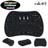 2-In-1 Mini Tastiera Wireless-2.4 Ghz Portatile Multifunzionale Combinazione Mouse Bluetooth, 7-Colore Del Gioco Retroilluminazione Mouse Tastiera, Può Essere Utilizzato Per Andriod, Ios, Windows