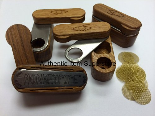Preisvergleich Produktbild Fisherman's Friend Monkey Pipe with PipescreenZ USA Made Screens - Light Wood Stain
