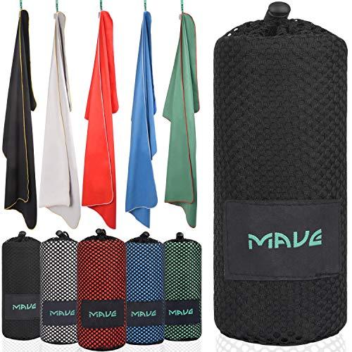 MAVE® Microfaser Reisehandtuch - Schnelltrocknendes und ultraleichtes Mikrofaser Handtuch - Ideal für Deine nächste Reise an den Strand oder Backpacking Tour [in Allen Größen] Athletic-set