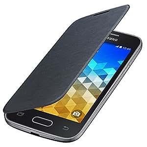 Etui Housse FLIP COVER Noir pour Samsung Galaxy Trend 2 Lite SM-G318H (Remplace la coque arriere