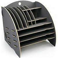 """Werkhaus - Ablage""""Big Organizer"""" in dunkelgrau, Schreibtischablage Kleinteilehalter Briefkorb CD-Ständer, mit 16 Faecher"""